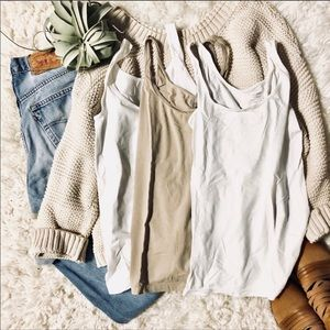 OLD NAVY Fitted Basic Layering Tank Bundle of 3 XS
